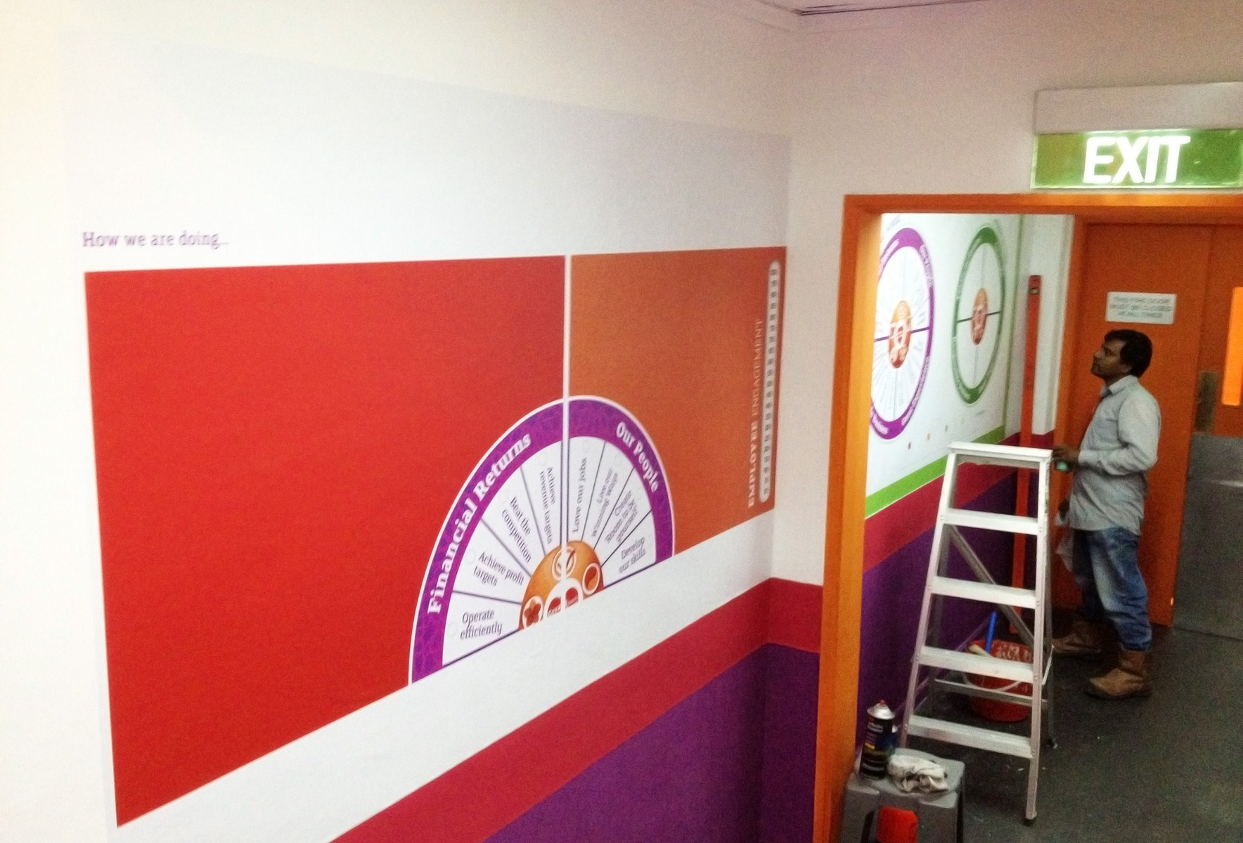 Plixo large format printing services in singapore for Corporate mural